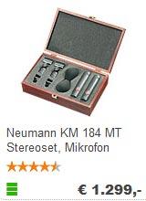 Kleinmembran Mikrofon Neumann KM 184 als Stereoset